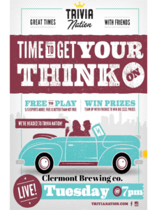 Tuesday Trivia at Clermont Brewing Company, Trivia Nation